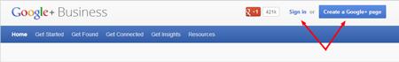 Figure 3: Create a Google+ Page