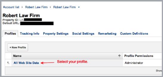 Google Analytics Law Firm Website