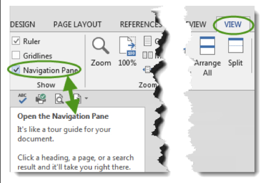 Figure 2 - Style Navigation Pane