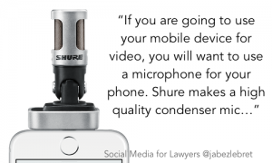 Shure iPhone - SM for lawyers