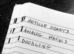 Japanese notebook hack - Analog Attorney