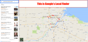 local map rankings with google's local finder