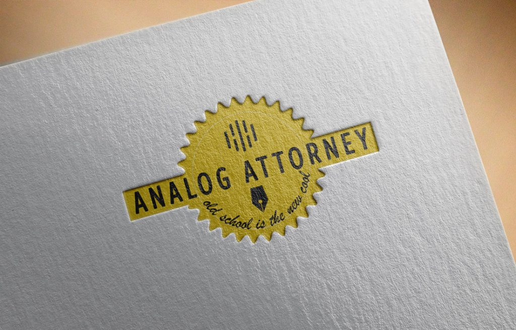 Analog Attorney House Letterhead is the new black