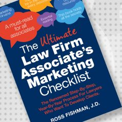 The ultimate law firm associate's marketing checklist