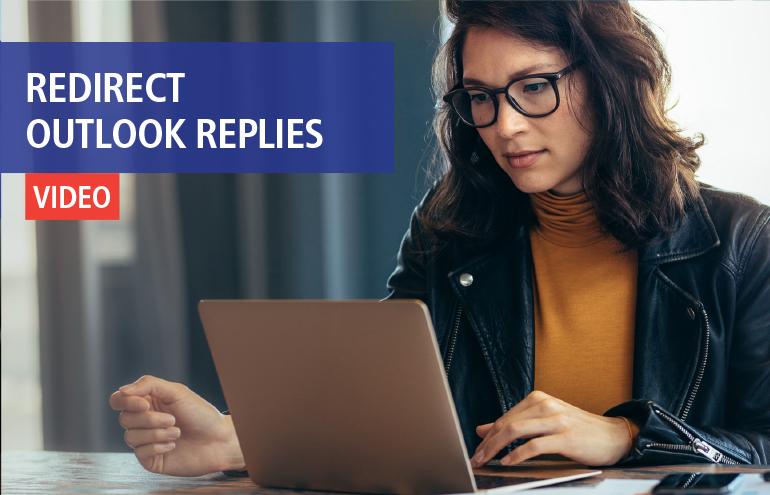 Redirect outlook replies Social