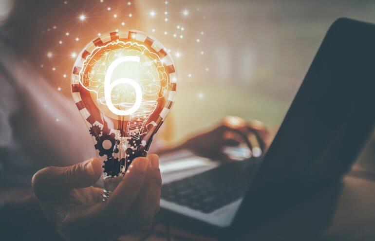 Light bulb six ideas solo practitioner