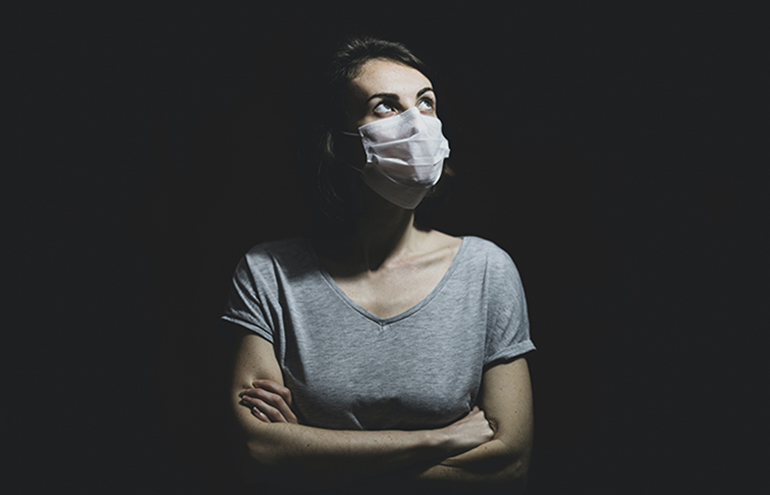 woman in mask - surviving bar investigation
