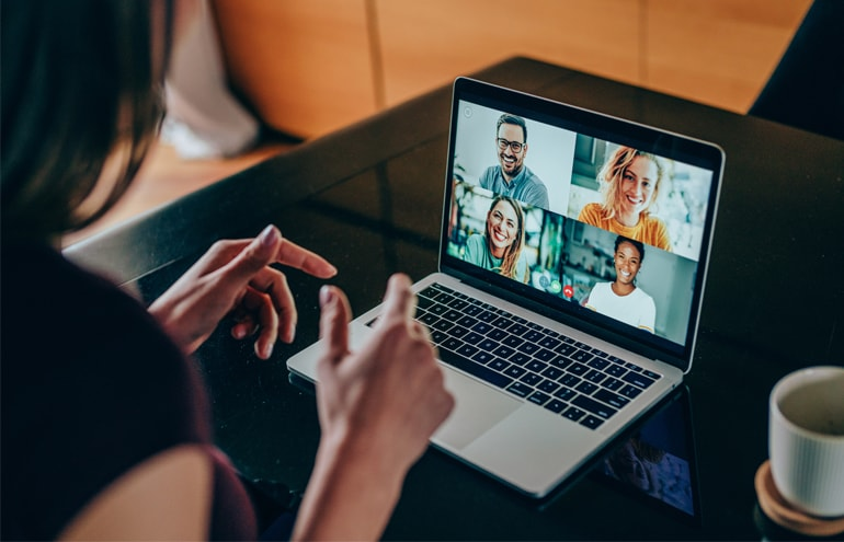 Lawyer on video call online Visibility