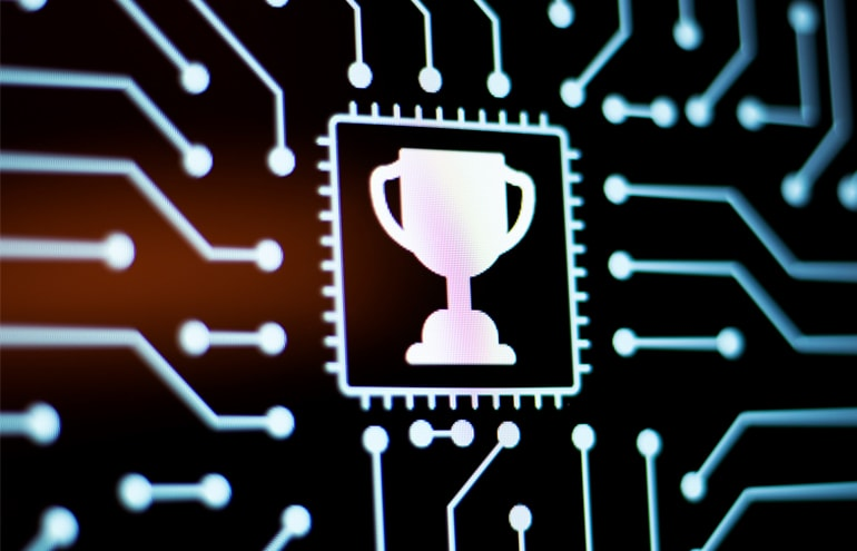 circuit board with trophy cup Top legal software