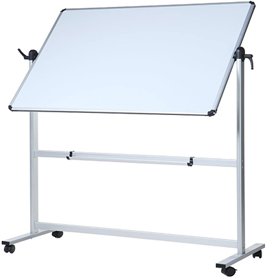 Flip board on wheels whiteboard in home office