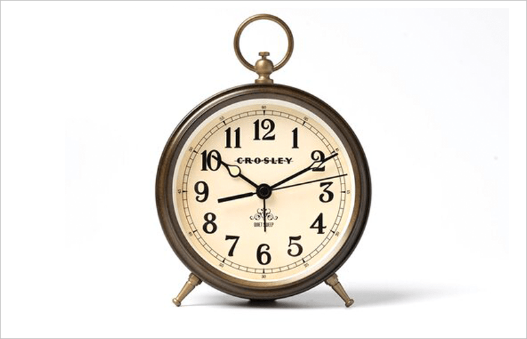 Crosley analog desktop clocks