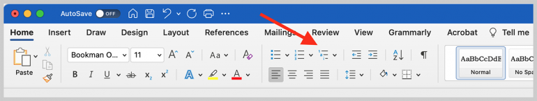 Multilevel Paragraph Numbering Icon